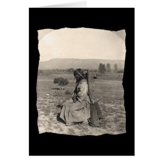 Vintage Native American Apache Card