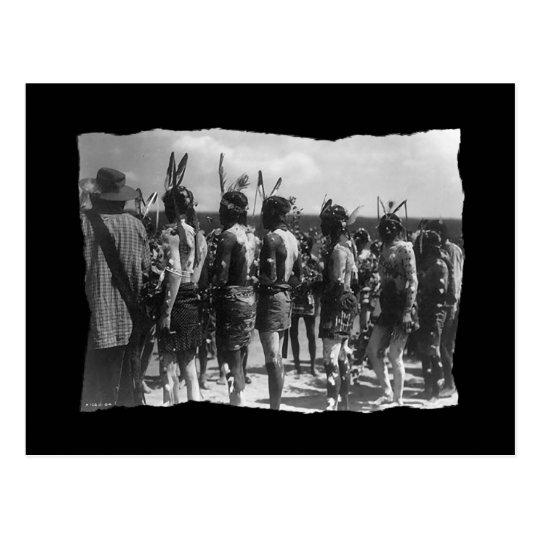 Vintage Native American Apache Feast Postcard