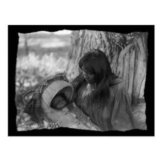 Vintage Native American Apache Woman Postcard