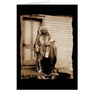 Vintage Native American Big Tobacco, a Dance Hall  Greeting Card