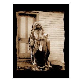 Vintage Native American Big Tobacco, a Dance Hall  Postcard