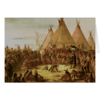 Vintage Native American Card