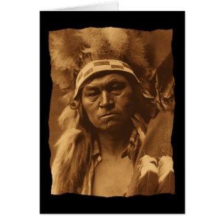 Vintage Native American Cayuse Warrior 1910 Card