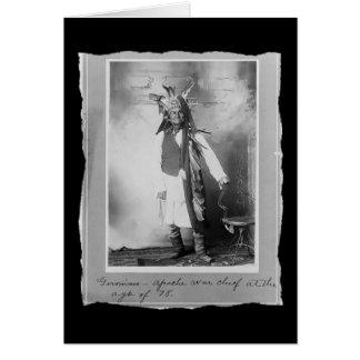 Vintage Native American Geronimo Apache Greeting Card