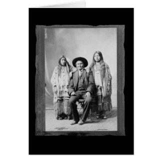 Vintage Native American Geronimo Chiricahua Apache Card
