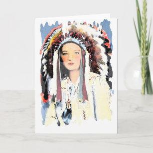 Vintage native american cards zazzle vintage native american greeting card m4hsunfo