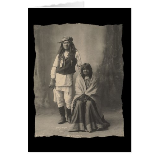 Vintage Native American Henry Wilson and Wife Moja Card