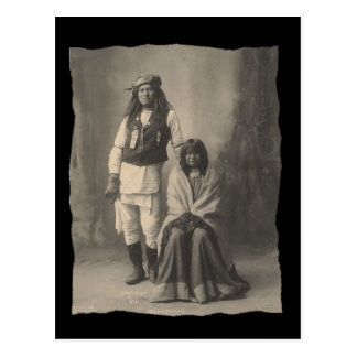 Vintage Native American Henry Wilson and Wife Moja Postcard