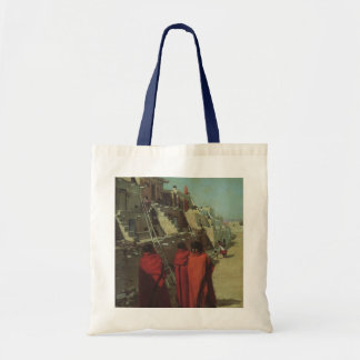 Vintage Native American, Hopi Pueblo by Louis Akin Tote Bag