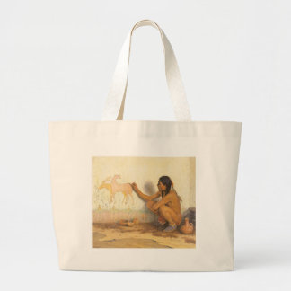 Vintage Native American, Indian Artist by Couse Jumbo Tote Bag
