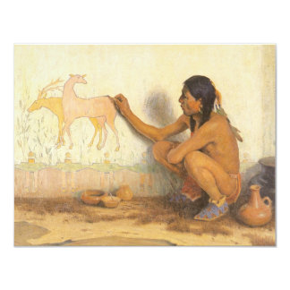 Vintage Native American, Indian Artist by Couse Card
