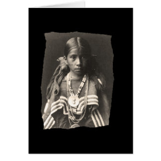 Vintage Native American Jicarilla Apache girl in F Card