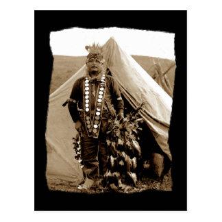 Vintage Native American Lakota Dancer Postcard