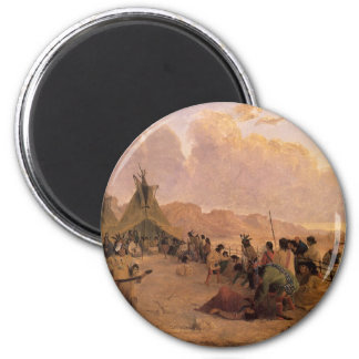 Vintage Native American, Medicine Dance by Eastman 2 Inch Round Magnet