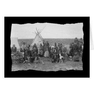 Vintage Native American Paiute Card