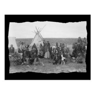 Vintage Native American Paiute Postcard