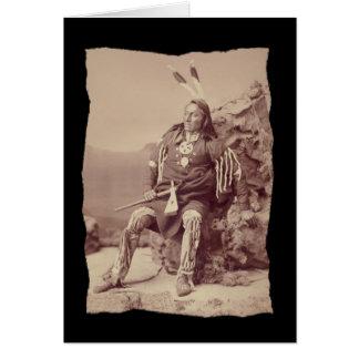 Vintage Native American Ponka  Big Chief Card