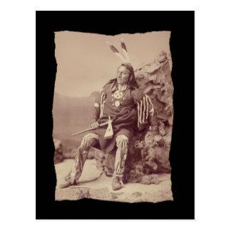 Vintage Native American Ponka Big Chief Postcard