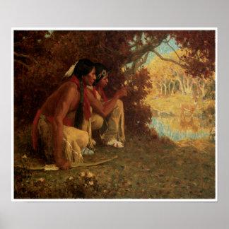 Vintage Native American Poster
