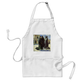 Vintage Native American, Taos Girls by Walter Ufer Adult Apron