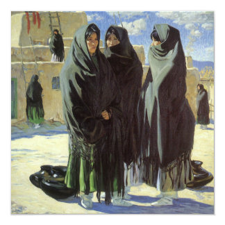 Vintage Native American, Taos Girls by Walter Ufer Card
