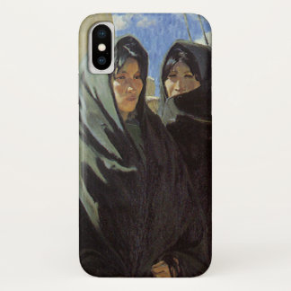 Vintage Native American, Taos Girls by Walter Ufer iPhone X Case