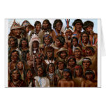 Vintage Native American tribes and peoples picture Greeting Card