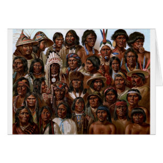 Vintage Native American tribes and peoples picture Card