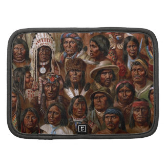Vintage Native American tribes and peoples picture Folio Planners