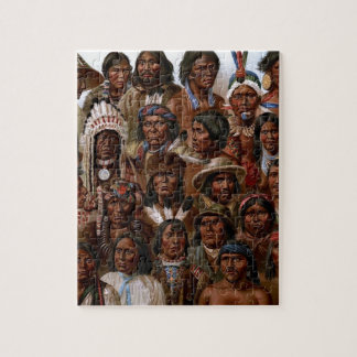 Vintage Native American tribes and peoples picture Puzzles