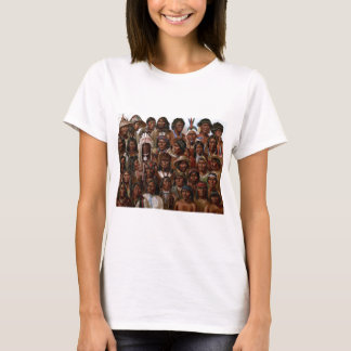Vintage Native American tribes and peoples picture T-Shirt