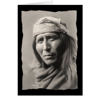 Vintage Native American Tsahizn Tseh Apache Card