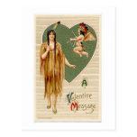 Vintage Native American Valentine Postcard