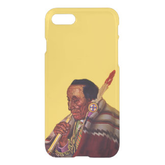 Vintage Native American Warrior Peace Pipe iPhone 7 Case