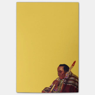 Vintage Native American Warrior Peace Pipe Post-it® Notes