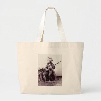 Vintage Native American Warrior Portrait Bag