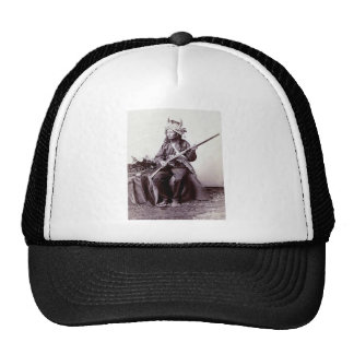 Vintage Native American Warrior Portrait Trucker Hat