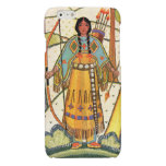 Vintage Native American Woman Village Forest Glossy iPhone 6 Case
