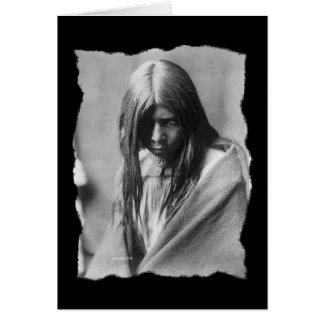 Vintage Native American Zosh Clishn Apache Card