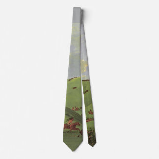 Vintage Native Americans, Buffalo Chase by Catlin Tie