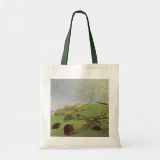 Vintage Native Americans, Buffalo Chase by Catlin Tote Bag