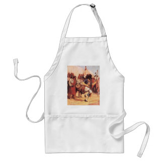 Vintage Native Americans, Buffalo Dance by Cassidy Adult Apron
