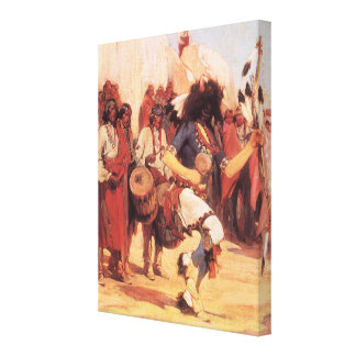 Vintage Native Americans, Buffalo Dance by Cassidy Canvas Print