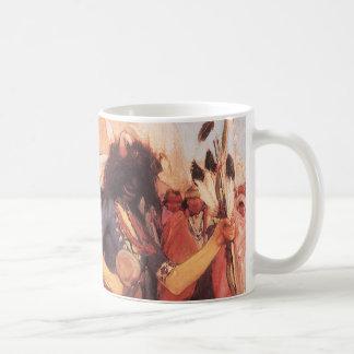 Vintage Native Americans, Buffalo Dance by Cassidy Coffee Mug