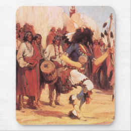Vintage Native Americans, Buffalo Dance by Cassidy Mouse Pad