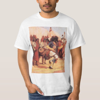 Vintage Native Americans, Buffalo Dance by Cassidy T-Shirt