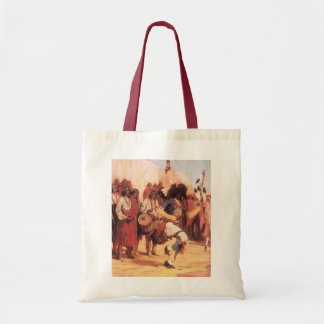 Vintage Native Americans, Buffalo Dance by Cassidy Tote Bag