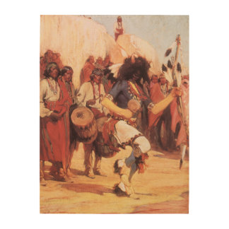 Vintage Native Americans, Buffalo Dance by Cassidy Wood Print