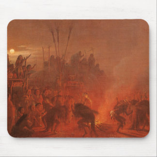 Vintage Native Americans, Buffalo Dance by Wimar Mouse Pad