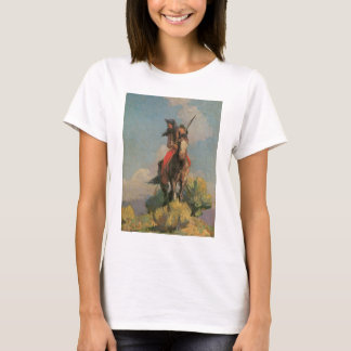 Vintage Native Americans, Crow Outlier by Dunton T-Shirt